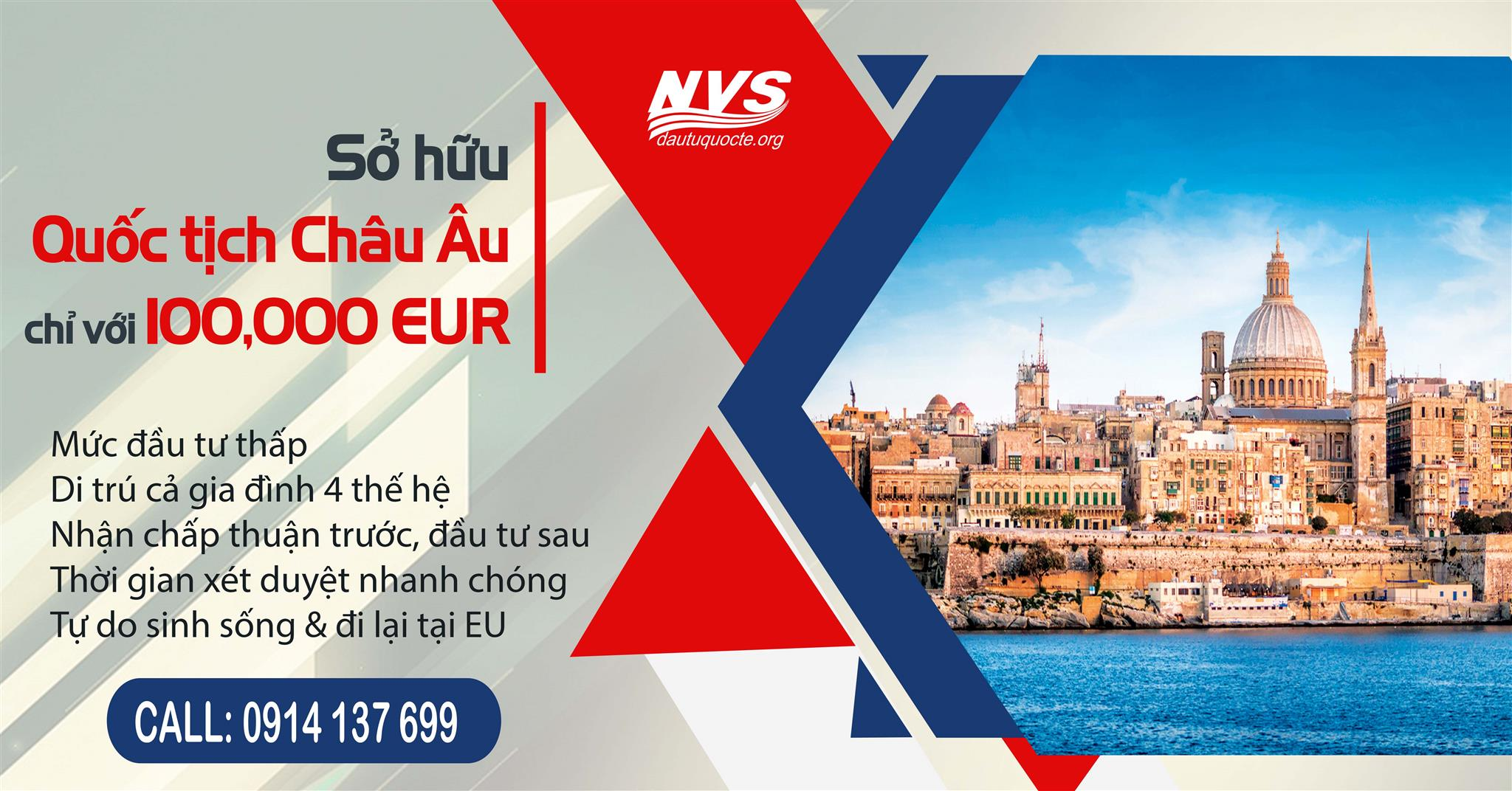 đầu tư đinhj cư Malta, nhận quốc tịch Châu Âu