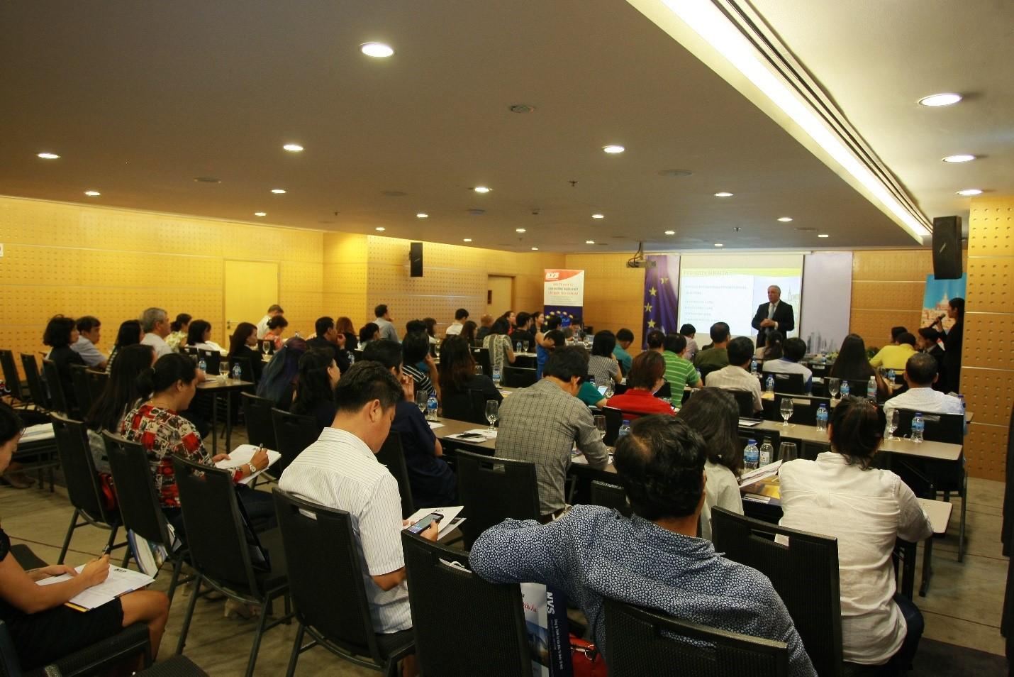 Các nhà đầu tư Việt tham dự hội thảo đầu tư định cư Malta do NVS tổ chức