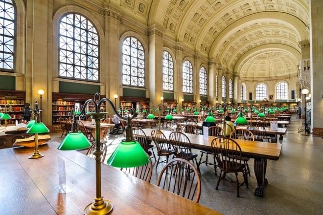 Thư viện công Boston ở thành phố Massachusetts