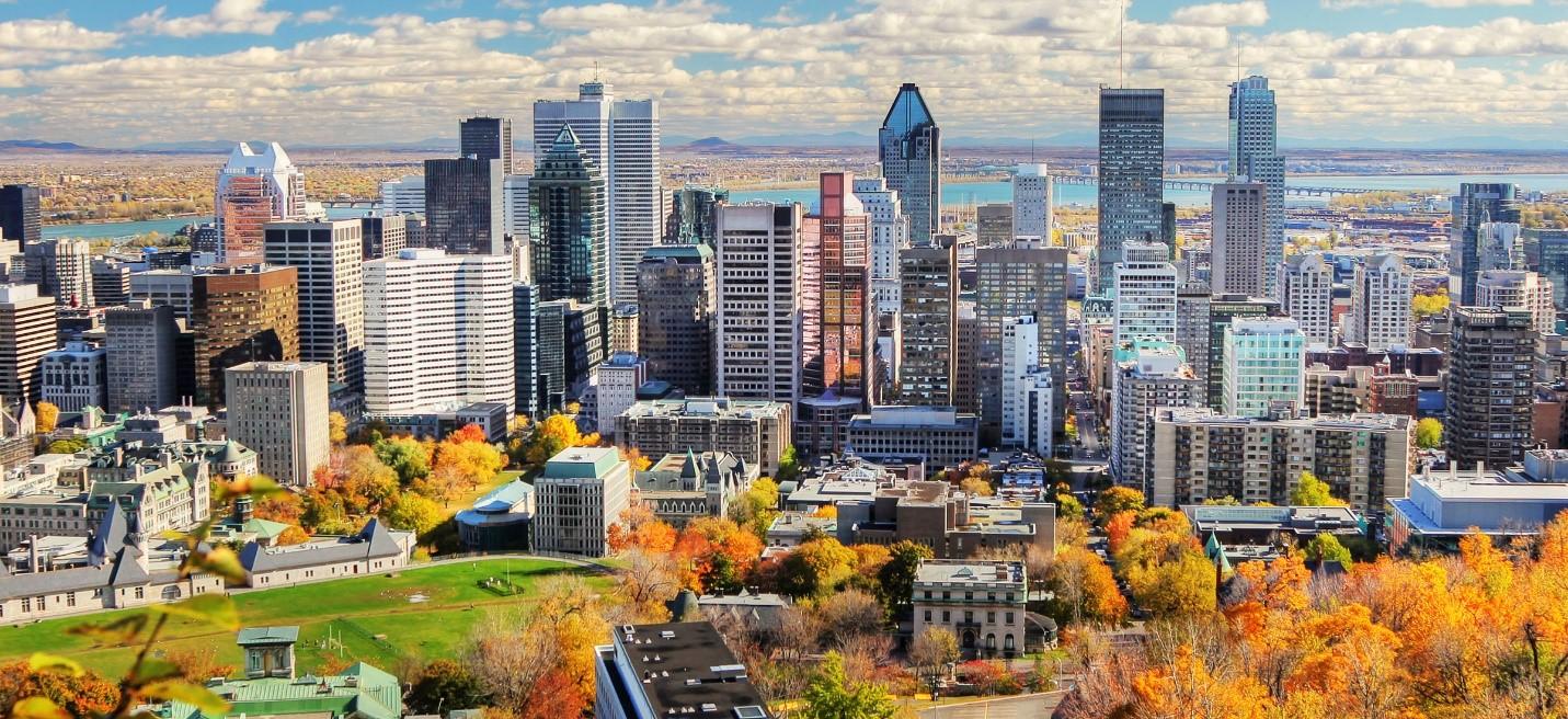 Cảnh quan thành phố Montreal Canada