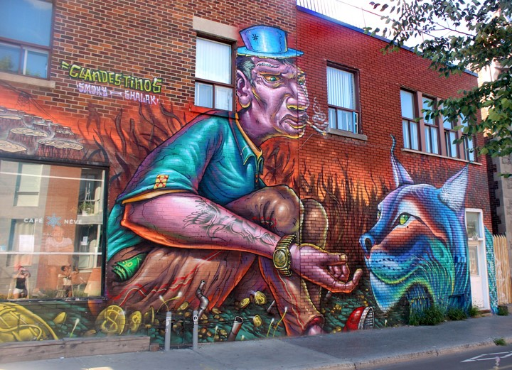 Nghệ thuật đường phố Montreal Canada