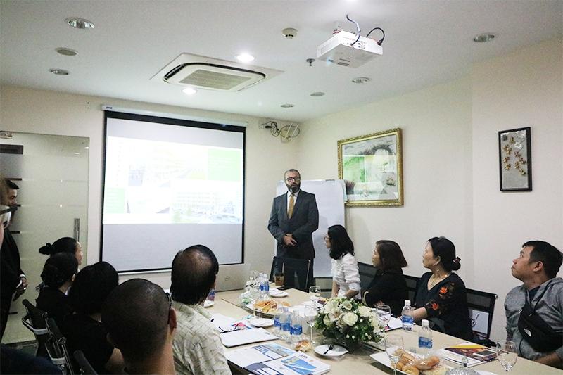 Ông Bardia Haghgouyan - Đại diện Tập đoàn Merca chia sẻ về dự án Broadway Apart Hotel
