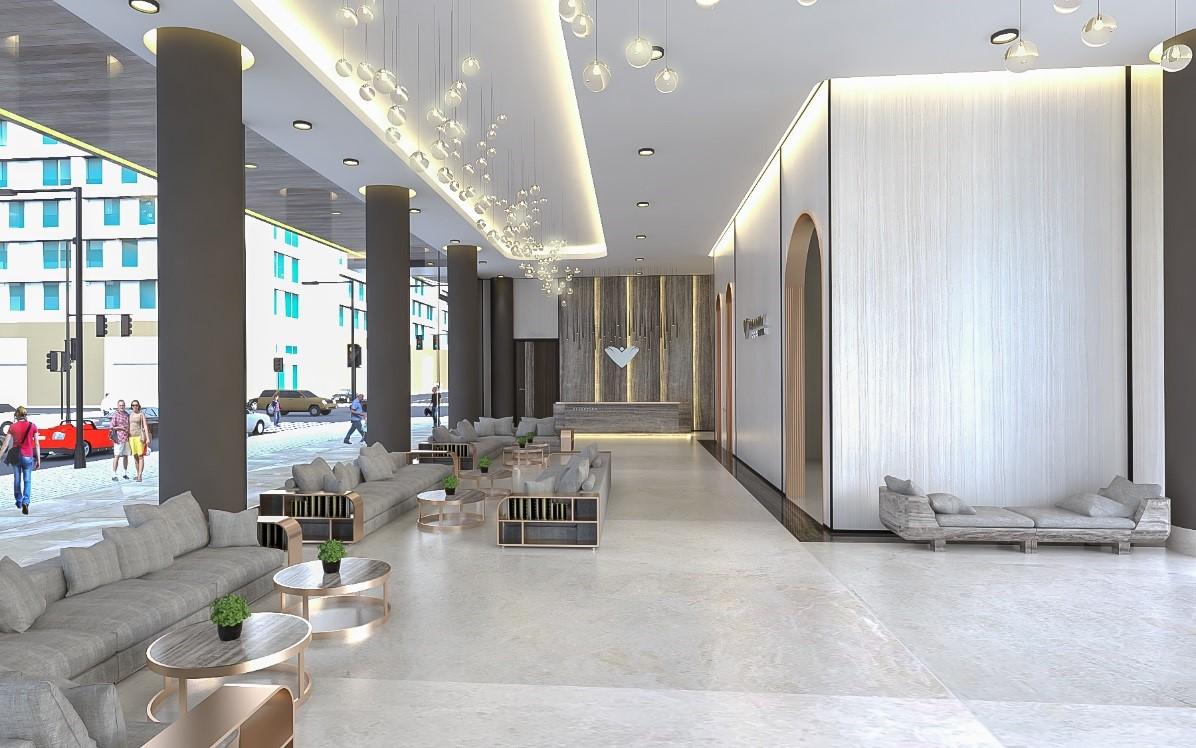 Hình ảnh sảnh tiếp khách của dự án khách sạn Broadway