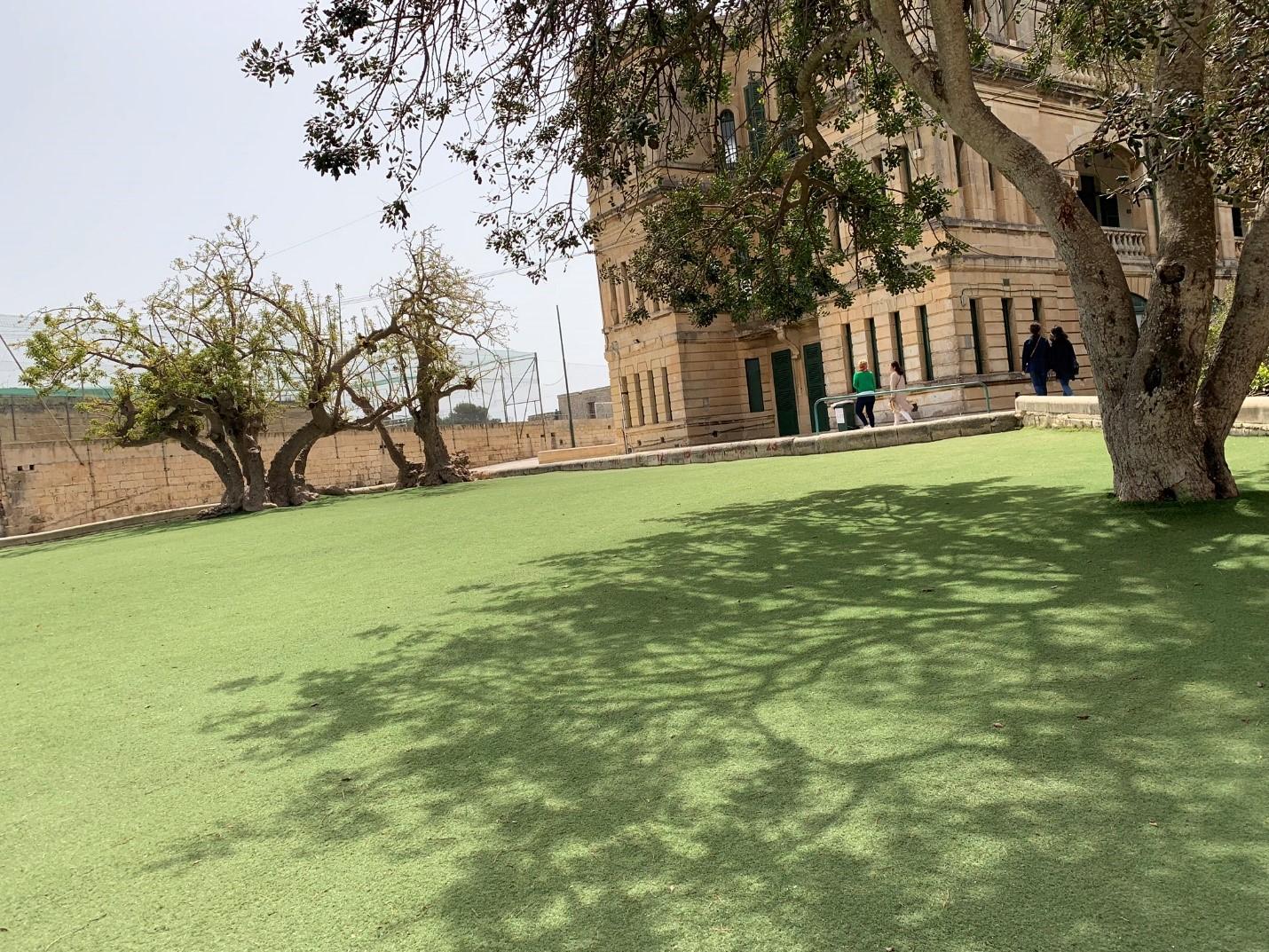 Sân trường rất đẹp và rộng lớn – Hình trong chuyến khảo sát của NVS