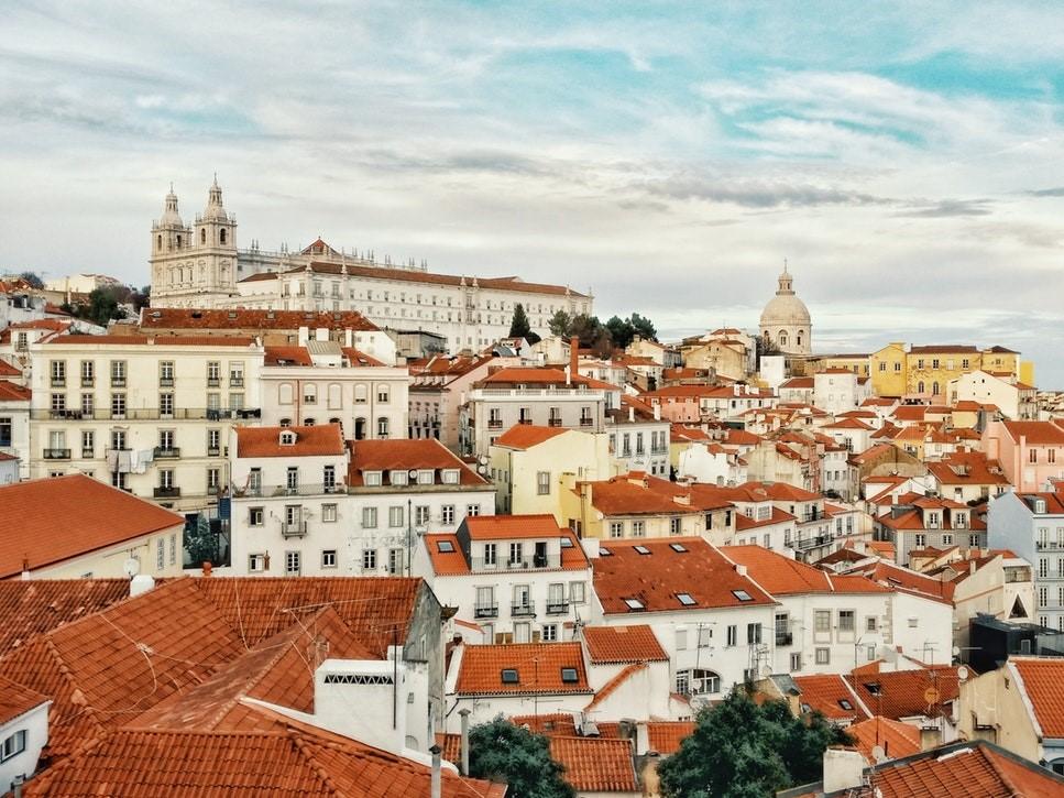 Quang cảnh thành phố Lisbon khi nhìn từ trên cao