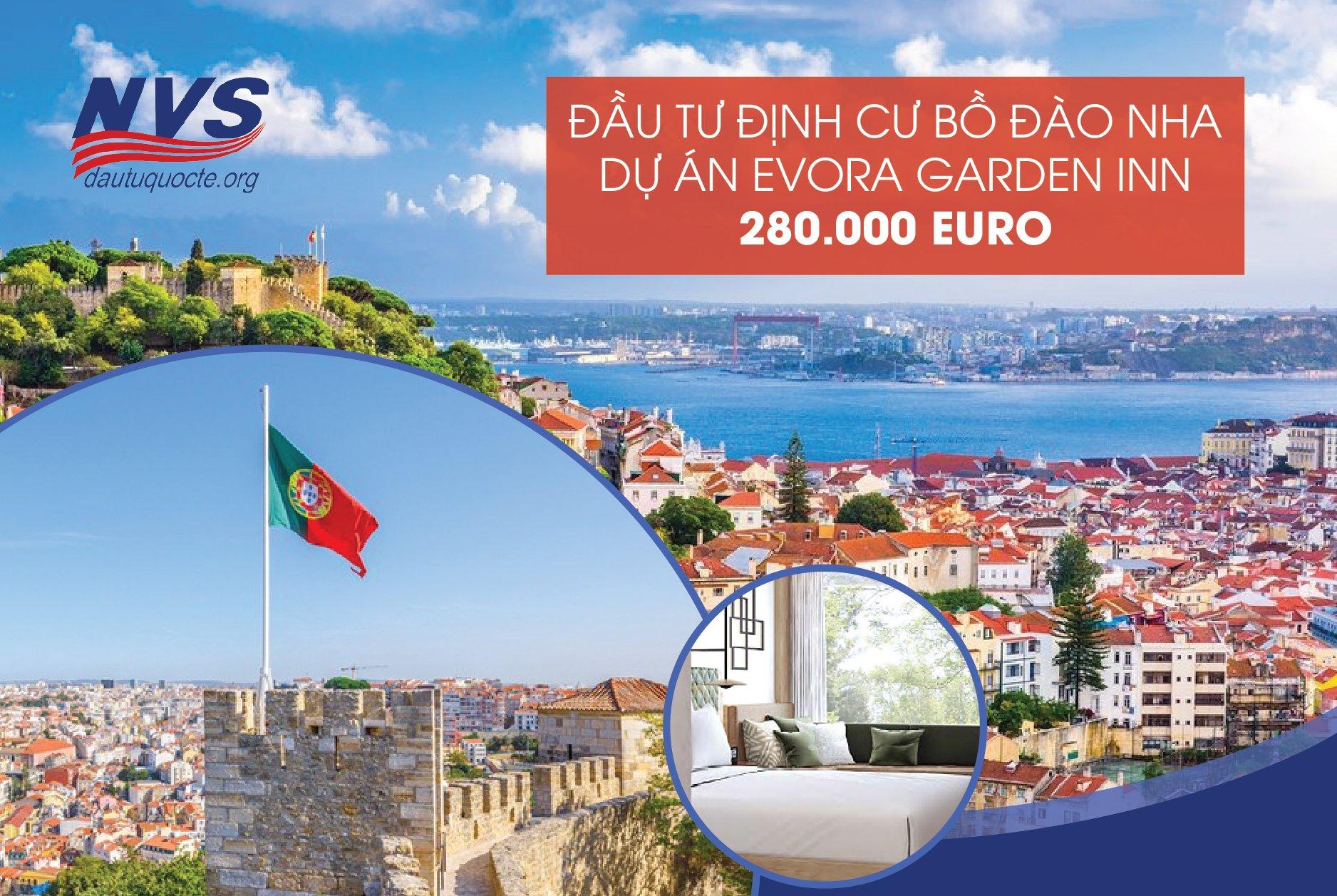 dự án khách sạn Evora Garden định cư Bồ Đào Nha chỉ 280,000 EUR