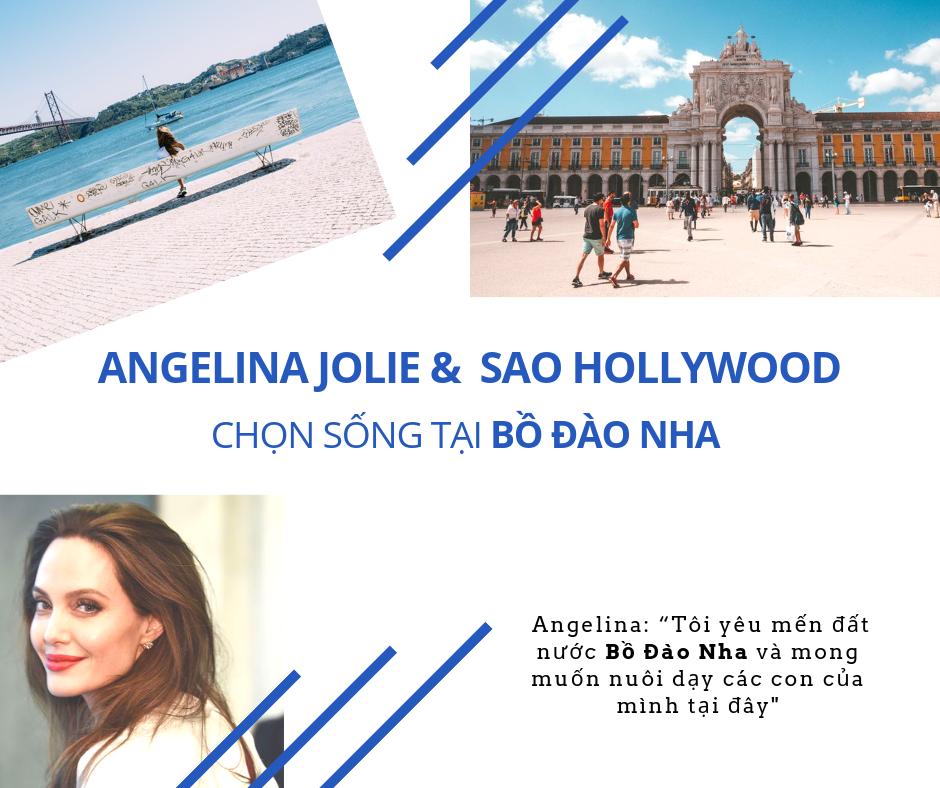 Angelina Jolie chọn cuộc sống ở Bồ Đào Nha