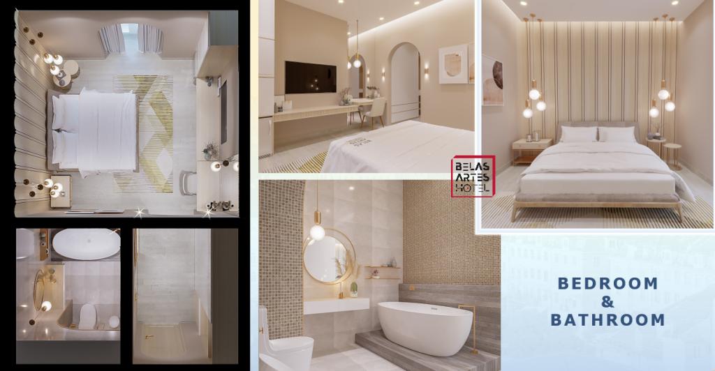 Cận cảnh thiết kế phòng ngủ và phòng tắm