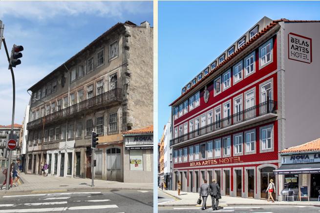 Hình ảnh trước và sau khi dự án được cải tạo bên ngoài