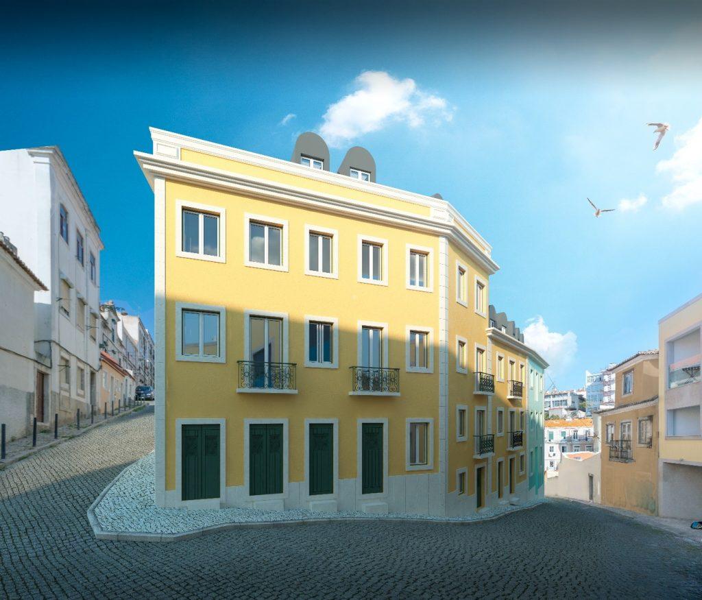Dự án Graceful màu vàng nổi bật trong khu phố