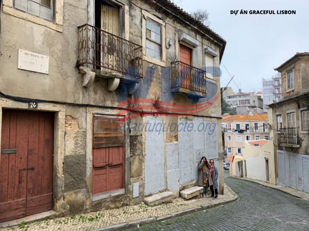 Dự án Graceful tại Lisbon (hình ảnh tòa nhà chưa trùng tu, xây dựng)