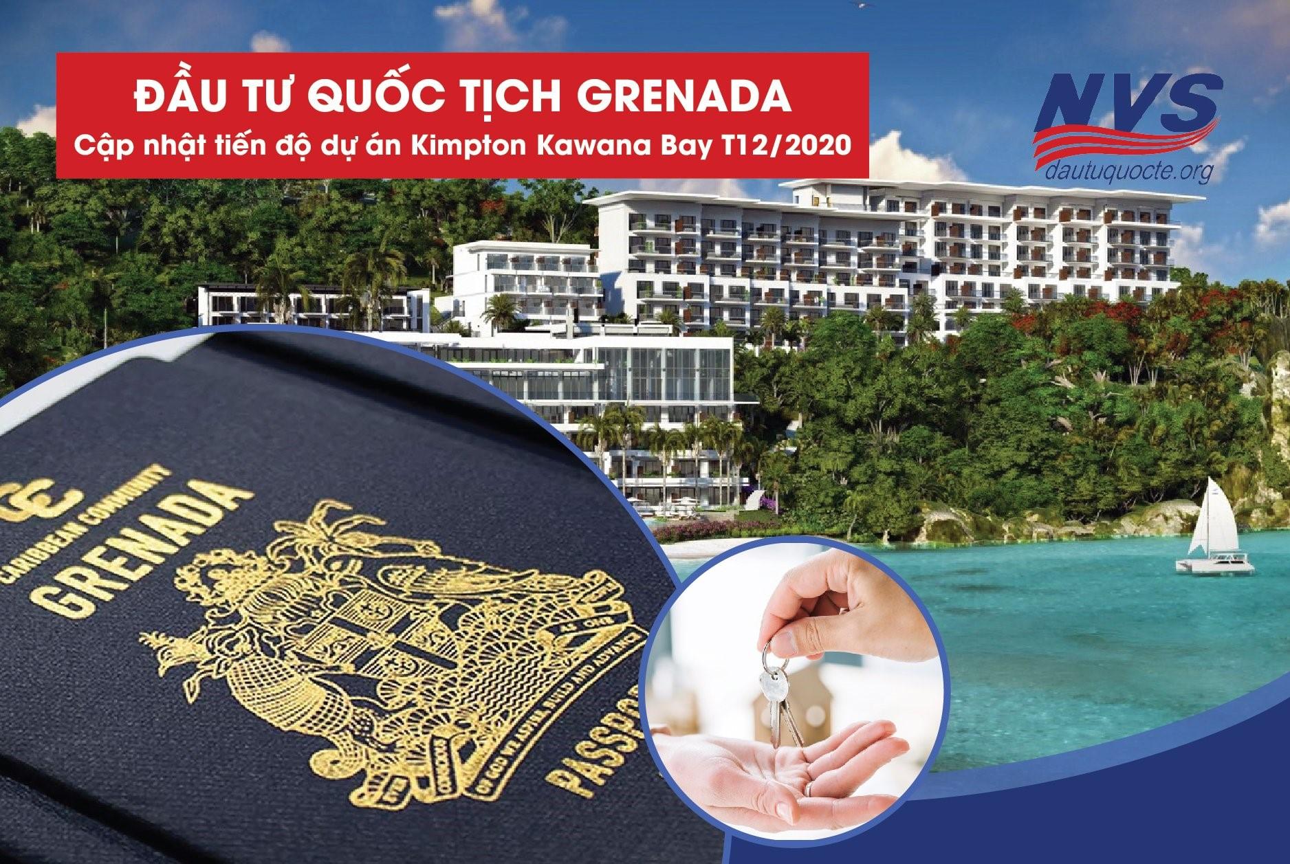 cập nhật tiến độ dự án Kimpton Bay Grenada tháng 12/2020