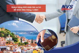 khách hàng NVS nhận thẻ cư trú Bồ Đào Nha tháng 1/2021