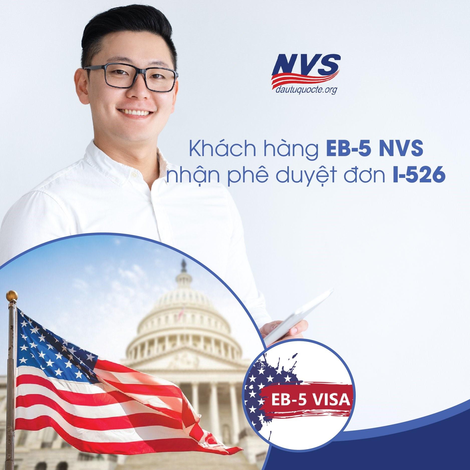Khách hàng NVS nhận phê duyệt đơn I-526 chương trình EB-5 định cư Mỹ tháng 02/2021