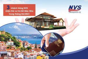 3 khách hàng NVS nhận thẻ cư trú Bồ Đào Nha trong tháng 4/2021