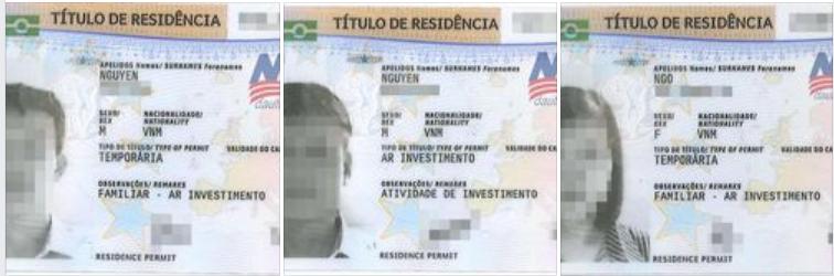 khách hàng nhận thẻ cư trú Bồ Đào Nha 4/2021